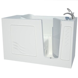 """Avano B3060RD Architect Series 60"""" Gel Coated Air / Whirlpool Bathtub for Alcove Installations with Right Drain, Roman Tub"""