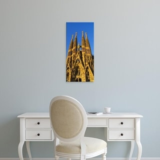 Easy Art Prints Panoramic Images's 'Low angle view of a cathedral, Sagrada Familia, Barcelona, Spain' Canvas Art
