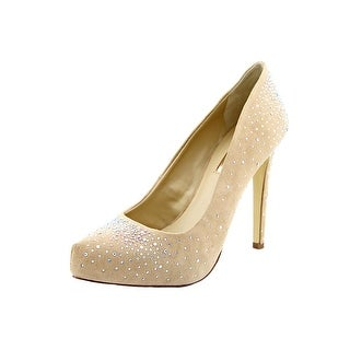 INC International Concepts Bindy 2 Open Toe Canvas Platform Heel