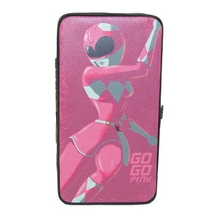 Buckle Down Kid's Pink Power Ranger Hinged Card Case Wallet - One Size