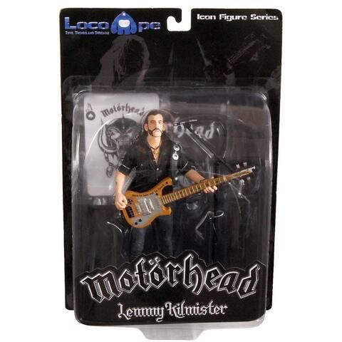 """Motorhead Lemmy Kilmister 7"""" Icon Figure Rickenbacker Guitar Cross - multi"""