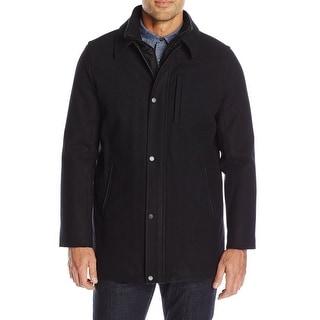 Calvin Klein NEW Black Mens Size Small S Full-Zip Layered Coat