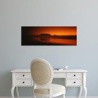 Easy Art Prints Panoramic Image 'Table Mountain, Table Bay, Cape Winelands, Western Cape, South Africa' Canvas Art