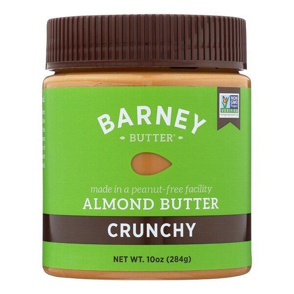 Barney Butter Almond Butter - Crunchy - Case of 6 - 10 oz.