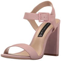 STEVEN by Steve Madden Womens Eisla NuBuck Open Toe Casual Ankle Strap Sandals