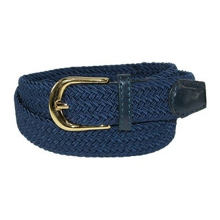 CTM® Women's Elastic Braided Stretch Belt