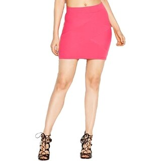 Guess Womens Mini Skirt Textured Pull On