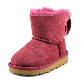 UGG Collection Kandice Toddler Round Toe Suede Purple Boot