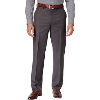 Michael Kors Classic Fit Charcoal Flat Front Dress Pants 34 x 30