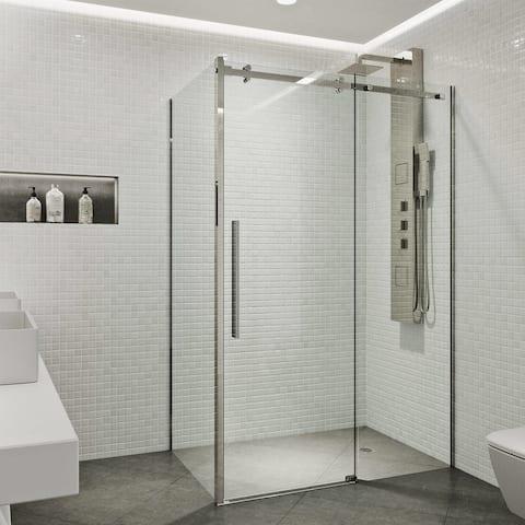VIGO Alameda Frameless Sliding Door Shower Enclosure