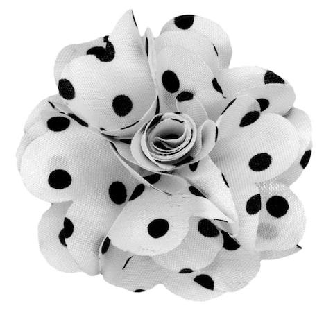Men's Polka Dots Flower Lapel pin - One Size