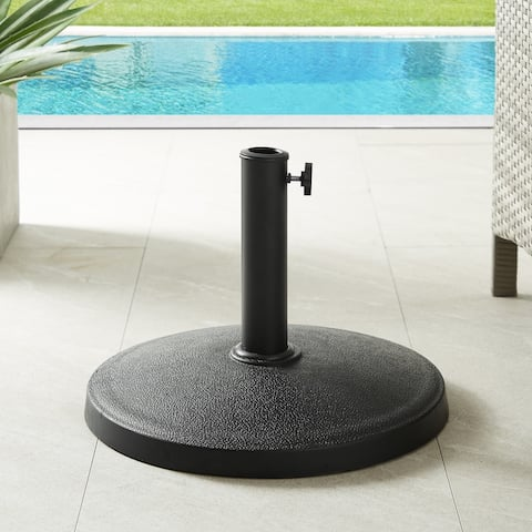 Havenside Home Outdoor Patio Black Simple Classic Round Umbrella Base