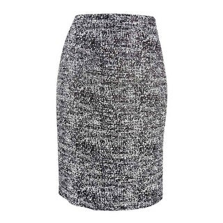 Tommy Hilfiger Women's Tweed Pencil Skirt - Black Multi