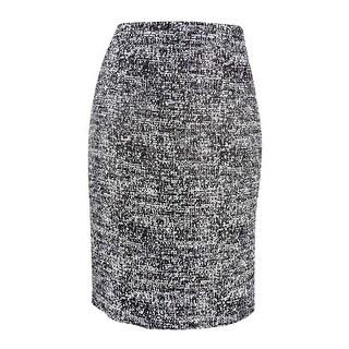 Tommy Hilfiger Women's Tweed Pencil Skirt - Black Multi