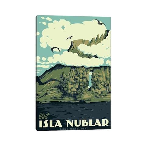 "iCanvas ""Visit Isla Nublar"" by Mathiole Canvas Print"