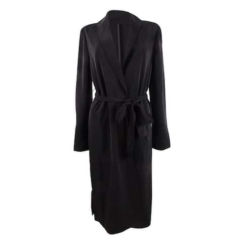 INC International Concepts Women's Belted Draped Trench Coat