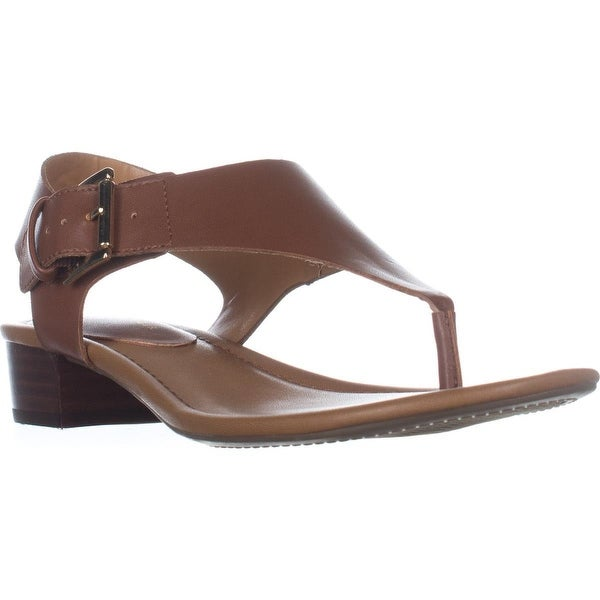 Tommy Hilfiger Kitty T-Strap Thong Sandals, Dark Brown