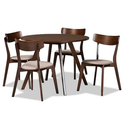 Rika Mid-Century Modern Transitional 5-Piece Dining Set