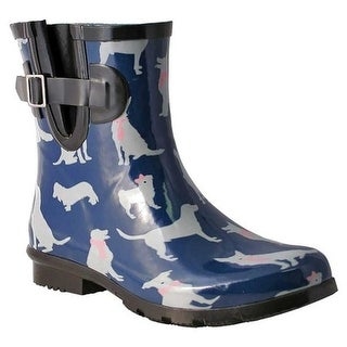 Nomad Women's Droplet Rain Boot Navy/White Dogs