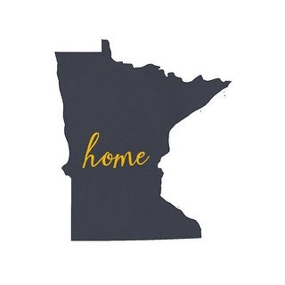 Minnesota - Home State - Gray on White - Lantern Press Artwork (100% Cotton Towel Absorbent)