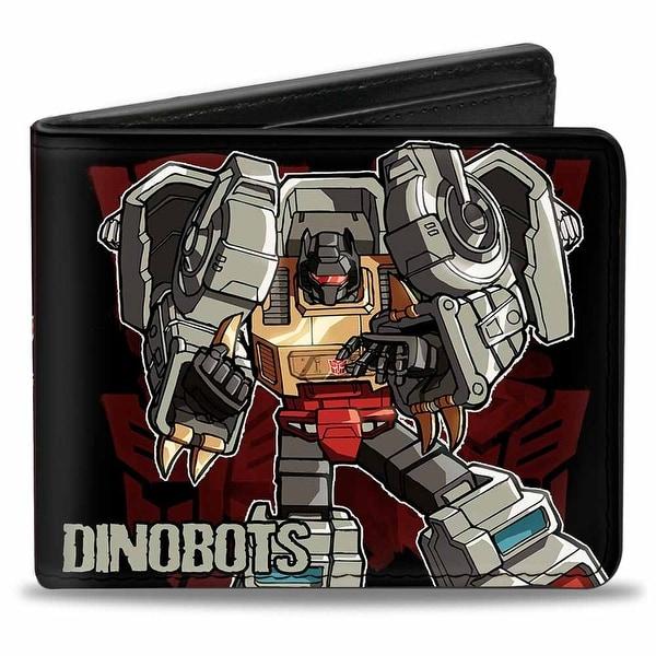 Dinobots Grimlock + Snarl Swoop Sludge Slag Panels Bi Fold Wallet - One Size Fits most