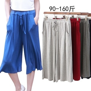 Link to Modal Loose Large Size Seven Wide Leg Pants Skirt Female Casual Pocket Pants Similar Items in Suits & Suit Separates