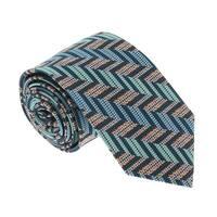 Missoni U4713 Green/Gold Herringbone 100% Silk Tie - 60-3