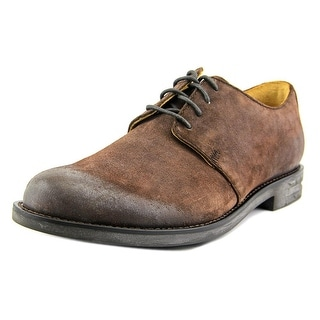 H.S. Trask Electric City Men Round Toe Suede Brown Oxford