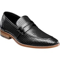 Stacy Adams Men's Belfair Moc Toe Penny Loafer 25165 Black Leather