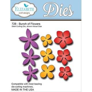 """Elizabeth Craft Metal Die-Bunch Of Flowers, 3""""X3"""""""