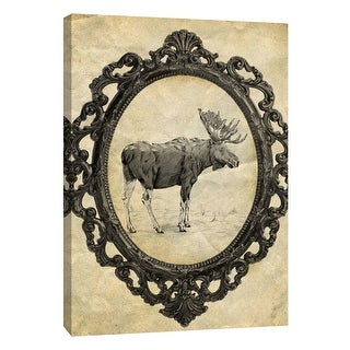 """PTM Images 9-105875  PTM Canvas Collection 10"""" x 8"""" - """"Framed Moose"""" Giclee Moose Art Print on Canvas"""