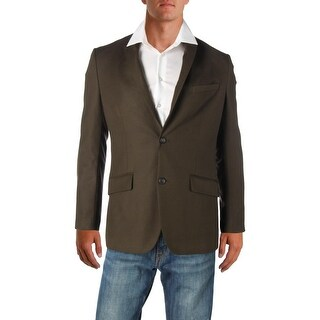 Perry Ellis Mens Two-Button Suit Jacket Slim Fit Long Sleeves - 40R