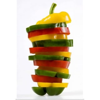 """""""Green, red, and yellow pepper"""" Poster Print"""