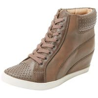 Splendid Womens HELSINKI Leather Low Top Pull On Fashion Sneakers - 5.5