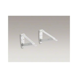 """Kohler K-1814-P Clearwater Pair of 20"""" Bathroom Brackets with Toggle Bolt and Adjusting Screw"""