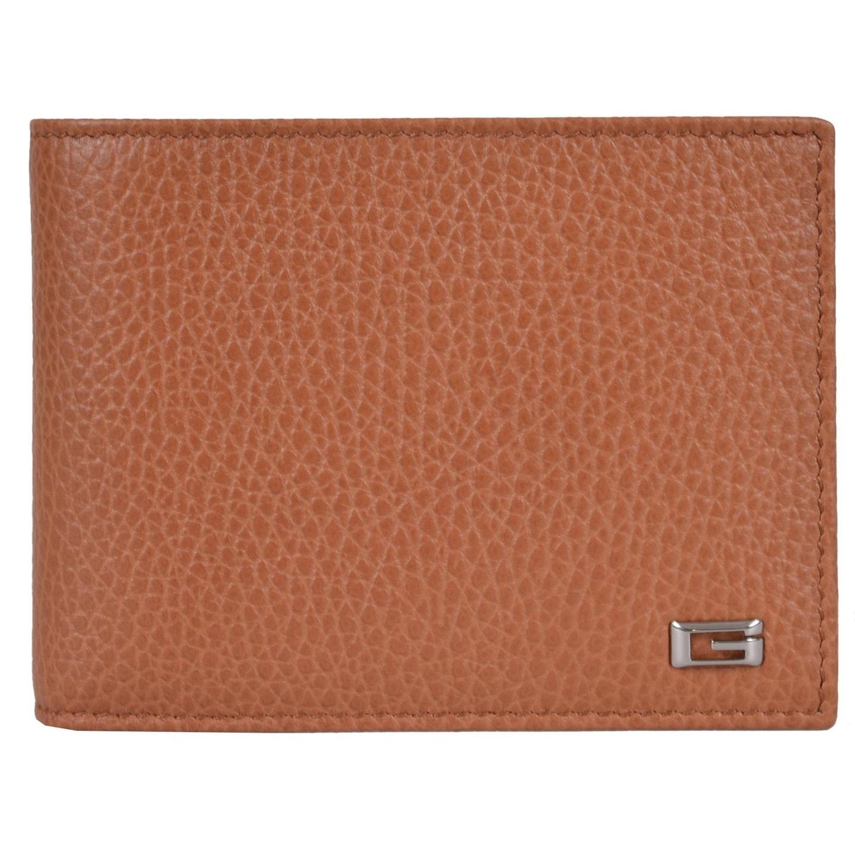 22bd5861dcb Gucci Men s 150403 Saffron Tan Leather G Logo Bifold Wallet W Coin Pocket