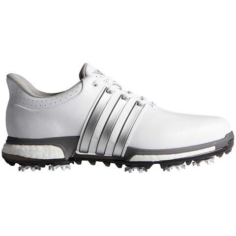 Adidas Men's Tour 360 Boost White/Silver Met./Dk Silver Met. Golf Shoes F33249/F33261