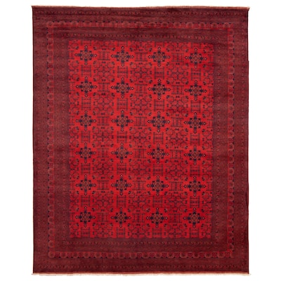 ECARPETGALLERY Hand-knotted Finest Khal Mohammadi Red Wool Rug - 10'1 x 12'8
