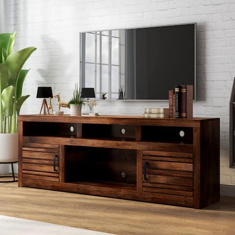 Carbon Loft Grimm Whiskey Finish 73-inch TV Console