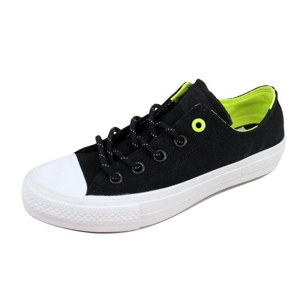 456dcd88d0df Shop Converse Men s Chuck Taylor II 2 OX Black Volt 153541C - Free ...