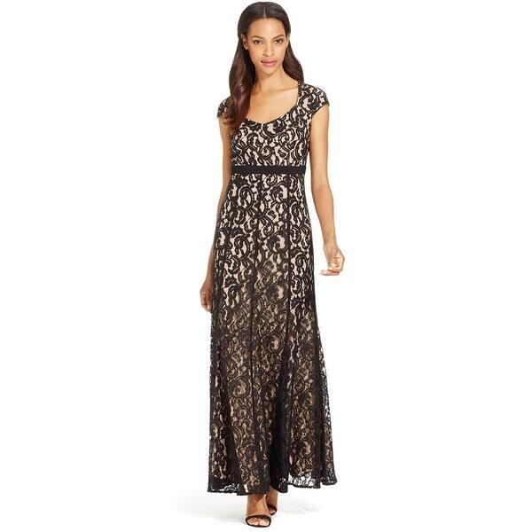 55d63e9d989f9 MSK Cap Sleeve Lace Evening Gown Dress