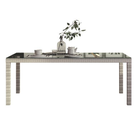 Midtown Concept Dining Table Rectangle Kitchen Dinner Table Indoor Outdoor Living Room Décor Patio Table - 79-in L x 40-in W