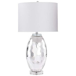 Cyan Design Carbine Table Lamp Carbine 1 Light Accent Table Lamp with White Shade - Chrome
