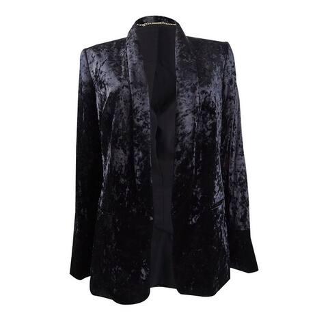 DKNY Women's Velvet Open-Front Blazer