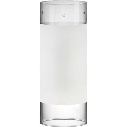 """Volume Lighting GS-306 8"""" Height White with Clear Edge Glass Cylindrical Shade"""