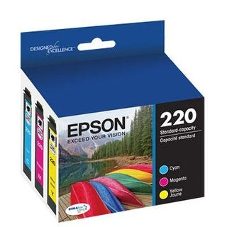 Epson T220520 Durabrite Ultra Color Combo Pack Standard Capacity Cartridge Ink (Wf-2760, Wf-2750, Wf-2660, Wf-2650, Wf-2