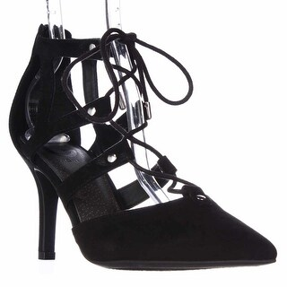 G by GUESS Krona Lace-up Dress Heels - Black