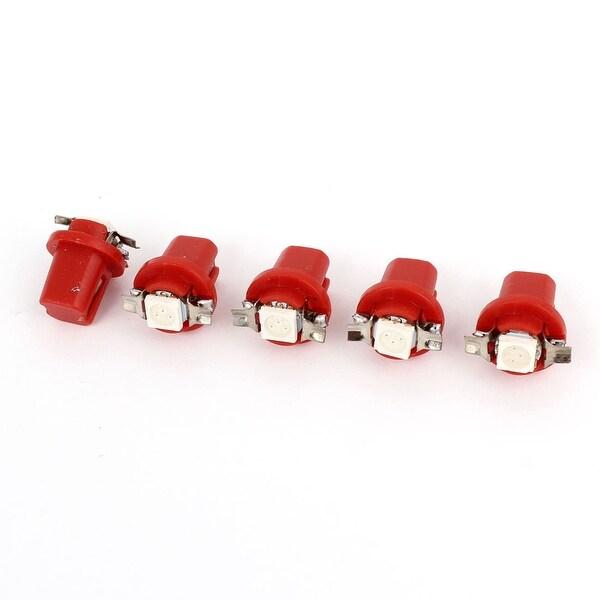 Unique Bargains Car Red B8.5D 5050 1 SMD LED Dashboard Area Light Gauge Lamp