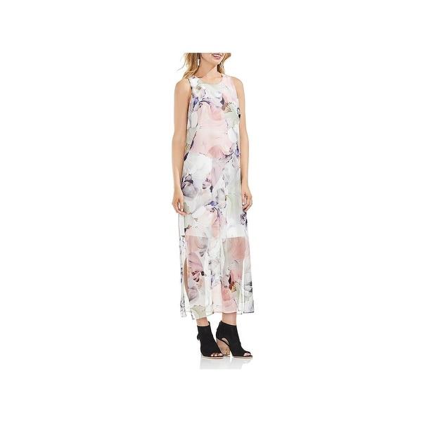 Vince Camuto Womens Spring Romance Maxi Dress Sheer Full-Length