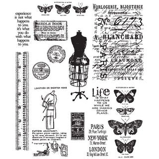 "Tim Holtz Cling Stamps 7""X8.5""-Attic Treasures